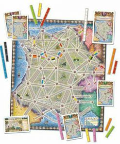 Ticket to Ride France & Old West Board Game 1